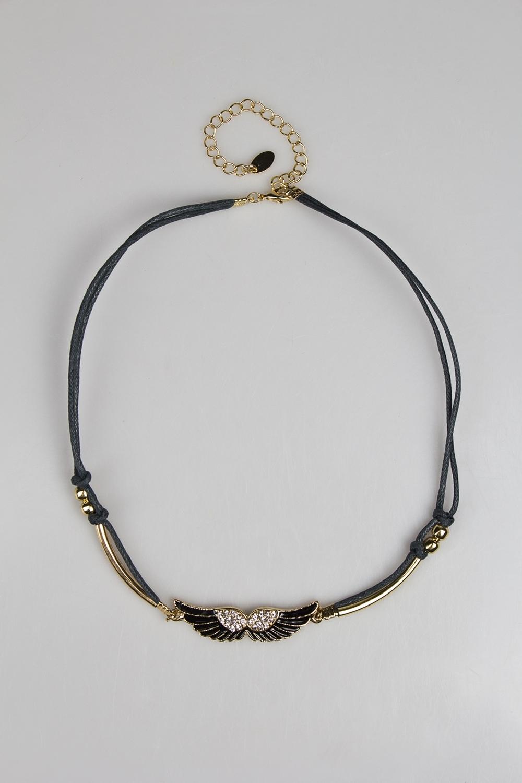 Ожерелье ВингзМетал: гиппоаллергенный бижутерный сплав металлов, не содержащий никеля, текстиль.<br>