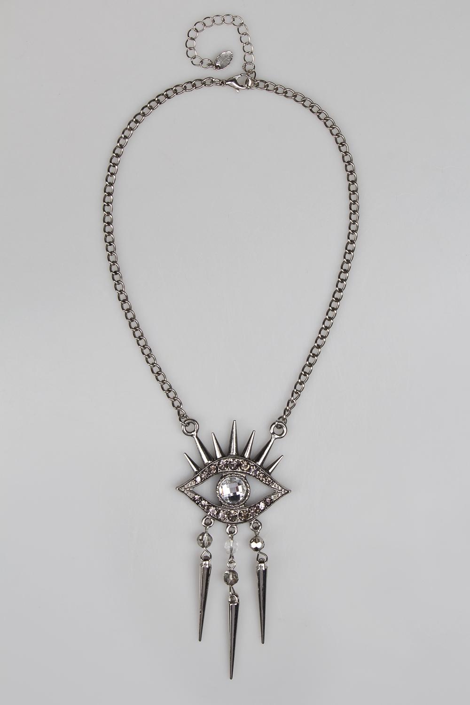 Ожерелье Око-оберегМетал: гиппоаллергенный бижутерный сплав металлов, не содержащий никеля<br>
