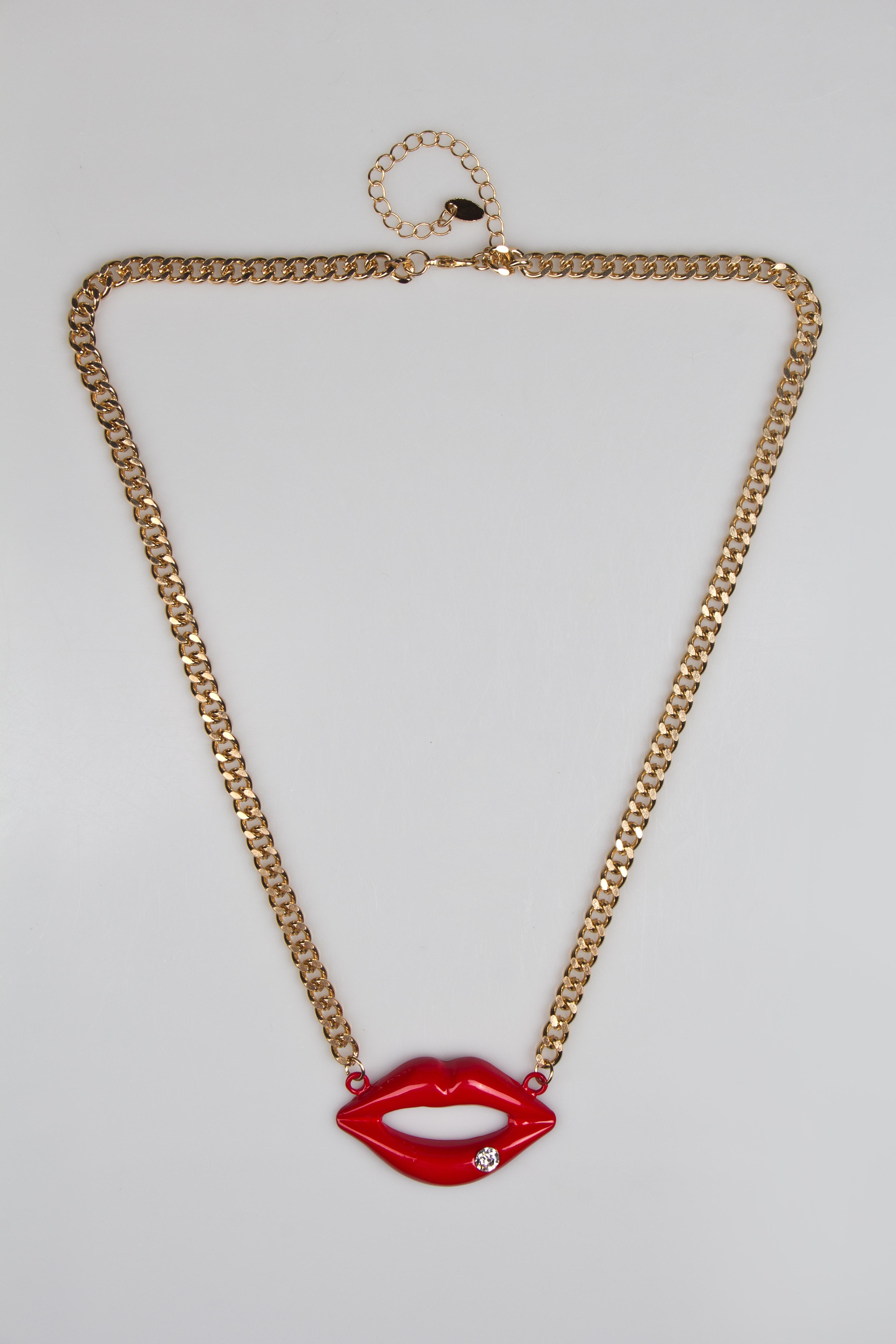 Ожерелье ГубыМетал: гиппоаллергенный бижутерный сплав металлов, не содержащий никеля<br>