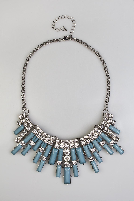 Ожерелье Голубая дальМетал: гиппоаллергенный бижутерный сплав<br>