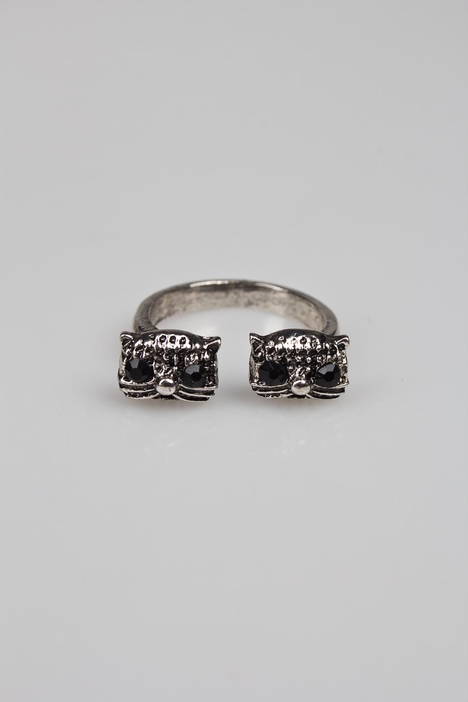 Кольцо КошечкиМетал: гиппоаллергенный бижутерный сплав металлов, не содержащий никеля<br>