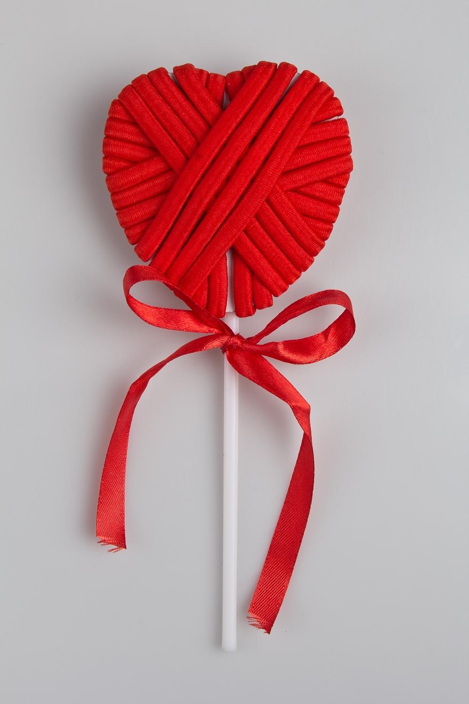 Набор резинок для волос Вкусное сердечкоПодарки<br>20-предметов, текстиль, красный<br>