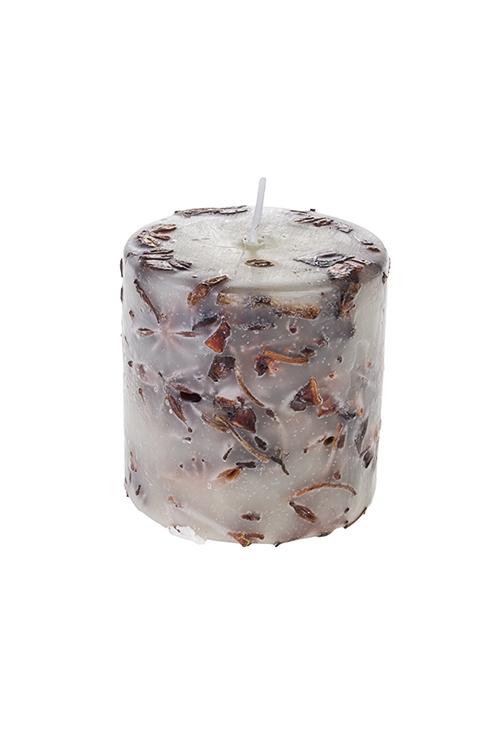 Свеча ароматизированная Восточные пряностиДекоративные свечи<br>Выс=8см, парафин, с ароматом восточных пряностей<br>