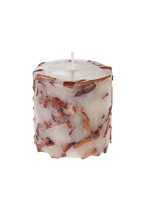 Свеча ароматизированная КорицаИнтерьер<br>Выс=8см, парафин, с ароматом корицы<br>
