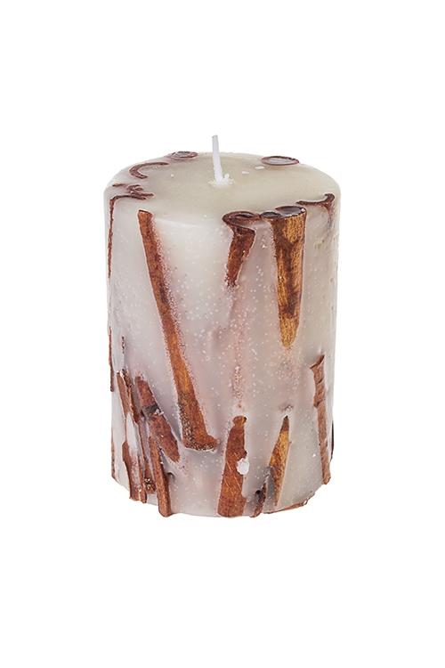 Свеча ароматизированная КорицаИнтерьер<br>Выс=10см, парафин, с ароматом корицы<br>