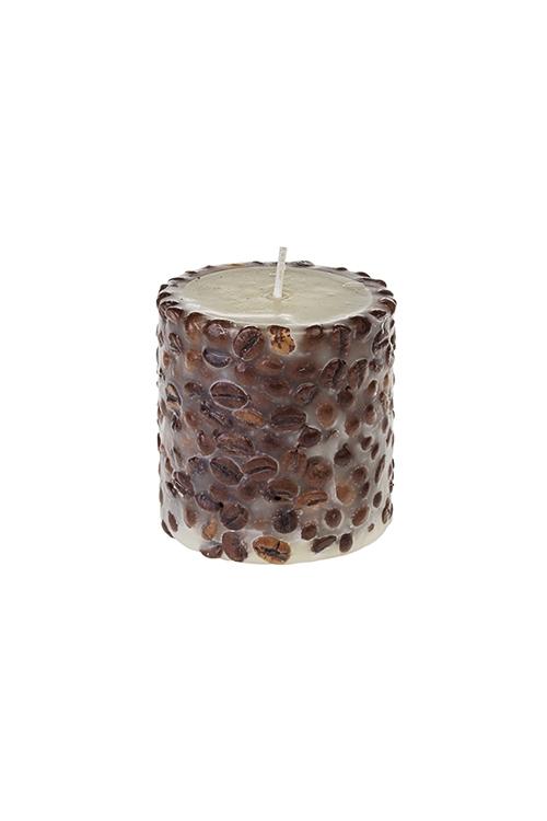Свеча ароматизированная КофеДекоративные свечи<br>Выс=8см, парафин, с ароматом кофе<br>