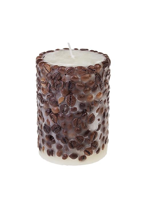 Свеча ароматизированная КофеИнтерьер<br>Выс=10см, парафин, с ароматом кофе<br>