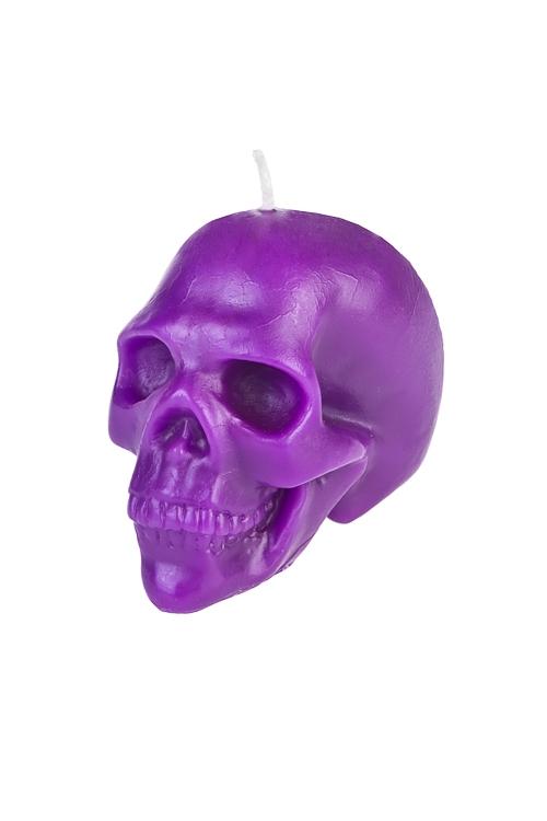 Свеча ЧерепИнтерьер<br>Выс=7см, парафин, фиолет.<br>