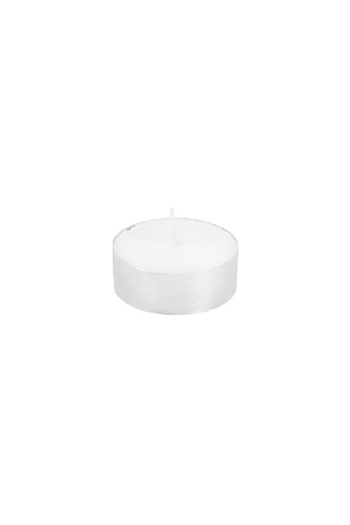 Свеча-таблетка СереброДекоративные свечи<br>Парафин, воск, белая<br>
