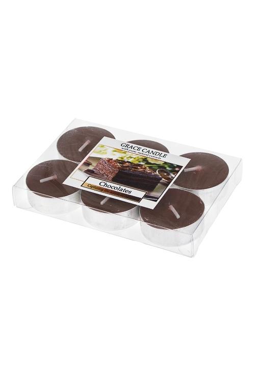 Набор свечей-таблеток ароматизированных ШоколадИнтерьер<br>6-предм., парафин, воск<br>