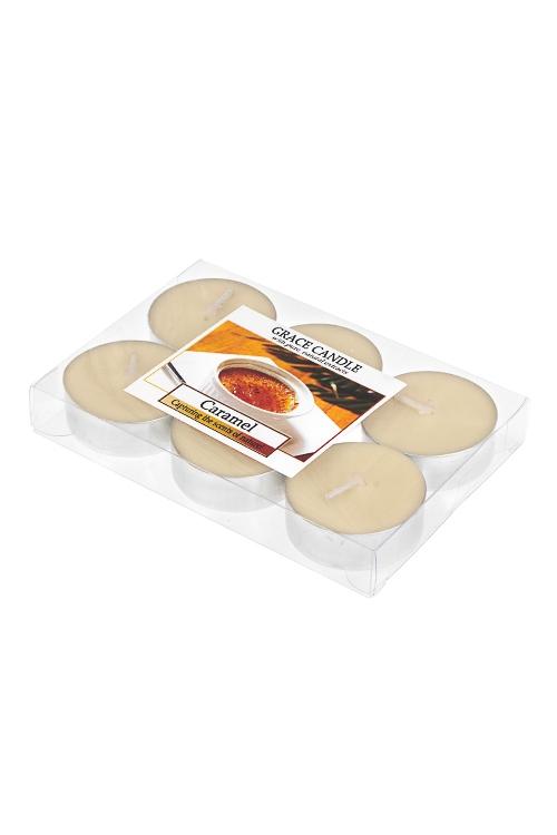 Набор свечей-таблеток ароматизированных КарамельИнтерьер<br>6-предм., парафин, воск<br>