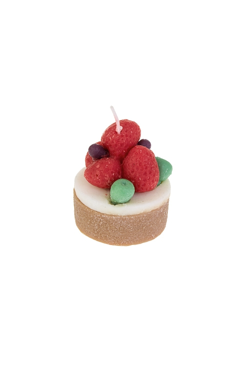 Свеча ароматизированная Ягодный тортикИнтерьер<br>6*5см, парафин , воск (ванильный тортик)<br>
