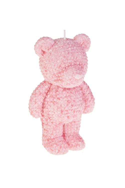 Свеча МишкаДекоративные свечи<br>Выс=14см, стеарин, розовая<br>