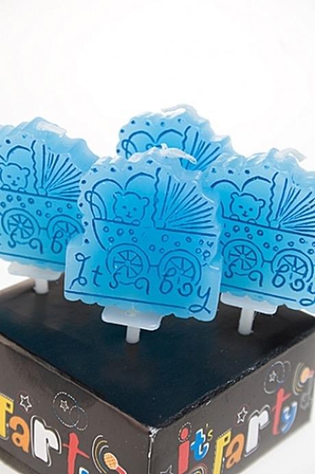 Набор свечей для торта Для мальчикаСвечи для торта и вечеринок<br>Парафин, голубой<br>