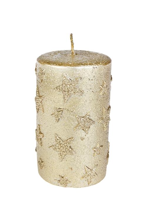 Свеча ЗвездыДекоративные свечи<br>Выс=12см, парафин, золот.<br>