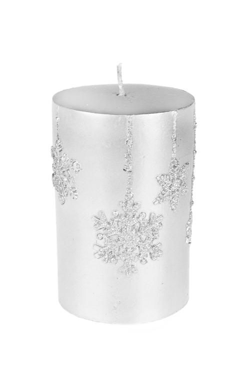 Свеча СнежинкиДекоративные свечи<br>Выс=11см, парафин, серебр.<br>