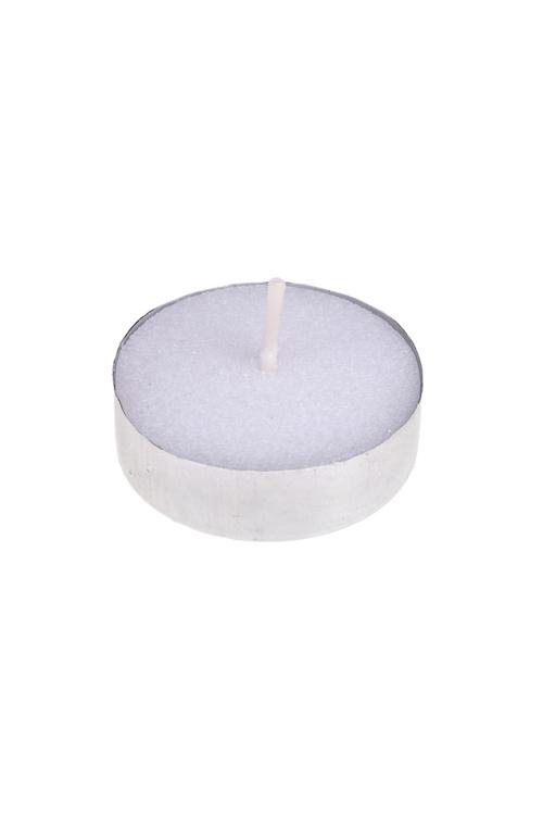 Свеча-таблетка ПростаяДекоративные свечи<br>Воск, белая<br>
