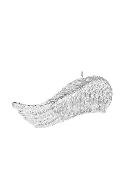 Свеча Крыло ангелаИнтерьер<br>16*4*6см, парафин, серебр.<br>