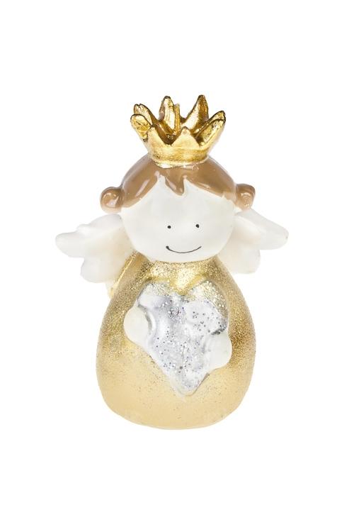 Свеча Волшебный ангелочекДекоративные свечи<br>Выс=12см, парафин, крем.-золот.<br>