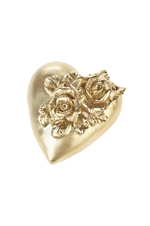 Свеча Прекрасное сердцеИнтерьер<br>9*8.5*6см, парафин, золот.<br>