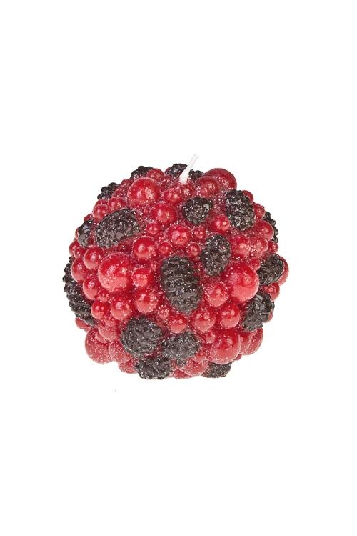 Свеча Сахарные ягодкиИнтерьер<br>Д=10см, парафин<br>