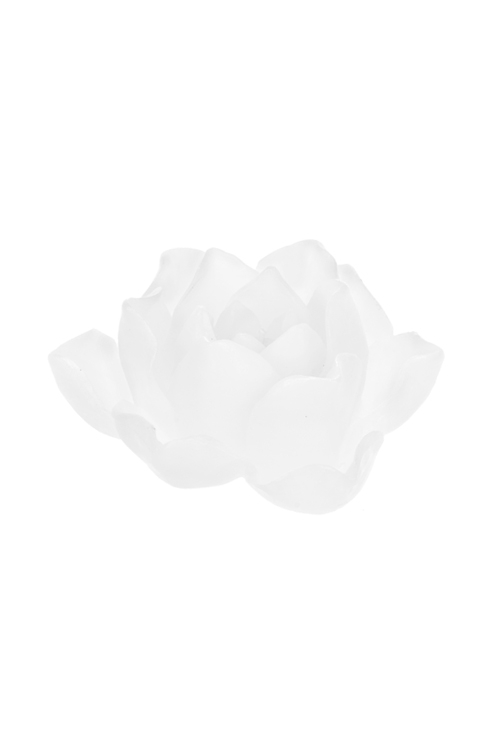 Свеча Прекрасная розаИнтерьер<br>14*14*7см, парафин, белая<br>