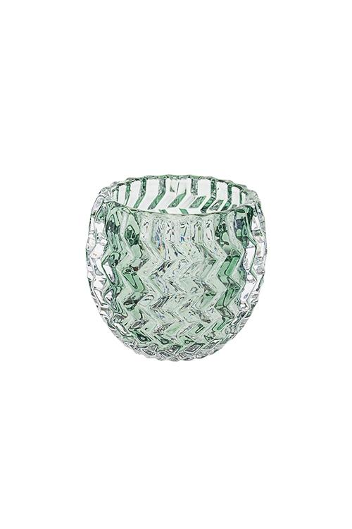 Подсвечник для свечи-таблетки ШайнИнтерьер<br>Выс=7см, стекло, серо-зеленый<br>