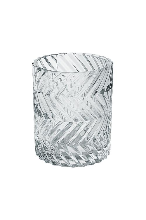 Подсвечник для свечи-таблетки Блеск гранейПодсвечники<br>Выс=9см, стекло, прозр.<br>