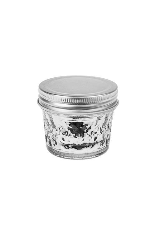 Подсвечник со свечой ароматизированной КристаллПодсвечники<br>Выс=6см, парафин, стекло (розовый пион)<br>