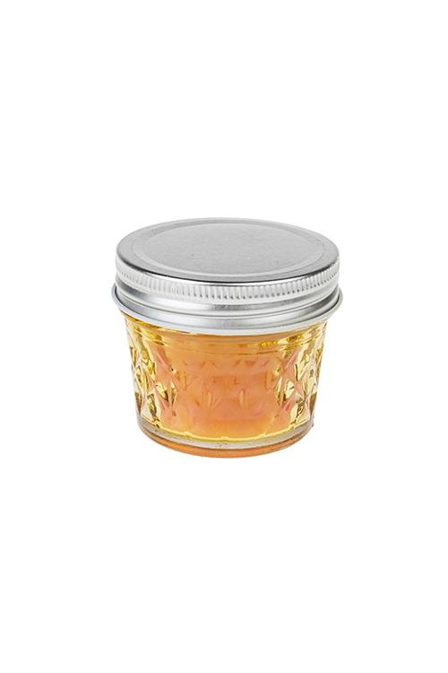 Подсвечник со свечой ароматизированной КристаллПодарки ко дню рождения<br>Выс=6см, парафин, стекло (манго и имбирь)<br>