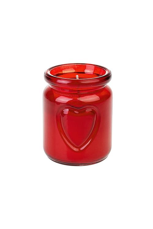 """Подсвечник со свечой ароматизированной """"Сердце"""""""