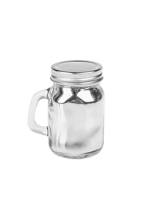 Подсвечник со свечой ароматизированной Волшебный ароматИнтерьер<br>Выс=8.5см, парафин, стекло (ананас и кокос)<br>