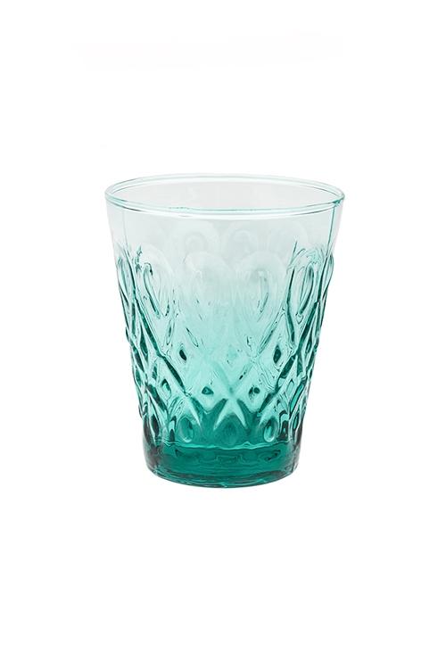 Подсвечник для свечи-таблетки ИзумрудПодсвечники<br>Выс=11см, стекло, сине-зеленый<br>