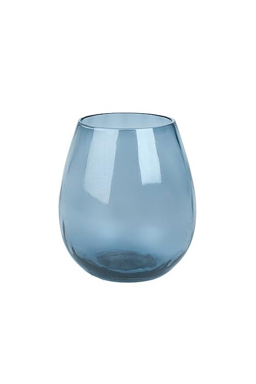 Подсвечник для свечи-таблетки Морской бризИнтерьер<br>Выс=11см, стекло, синий<br>