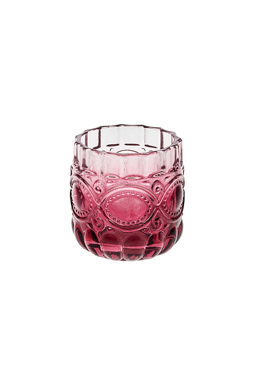 Подсвечник для свечи-таблетки Королевская роскошьИнтерьер<br>7*7см, стекло, борд.<br>