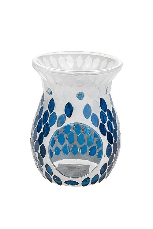 Аромалампа Морские мотивыИнтерьер<br>10*14см, стекло, сине-белая<br>