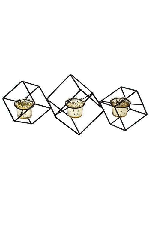 """Подсвечник для 3-х свечей-таблеток """"Геометрия"""" - 1"""