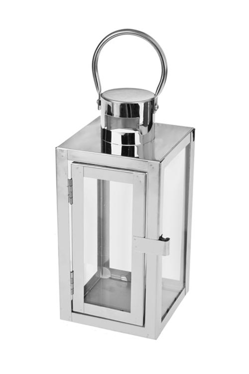 Подсвечник ГеометрияИнтерьер<br>Выс=23см, металл, серебр.<br>