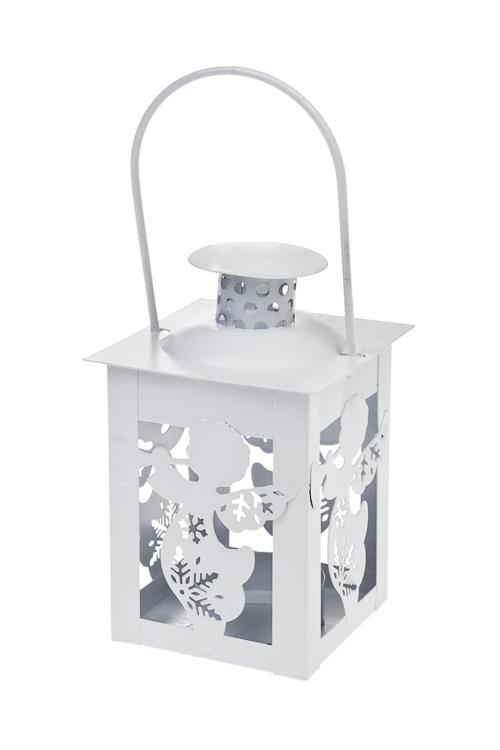 Подсвечник для свечи-таблетки АнгелочекПодарки<br>8*8*11см, металл, белый, подвесной<br>