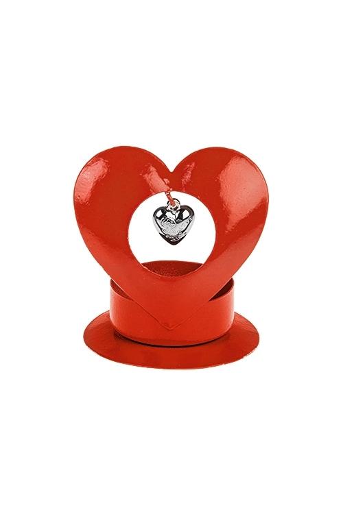 "Подсвечник для свечи-таблетки ""Сердце в сердце"""