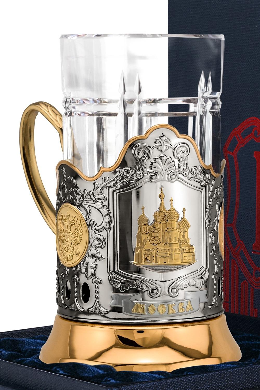 Набор для чая с подстаканником Храм Василия Блаженного кисть для глаз manly pro тонкая кисть для гелевой и жидкой подводки