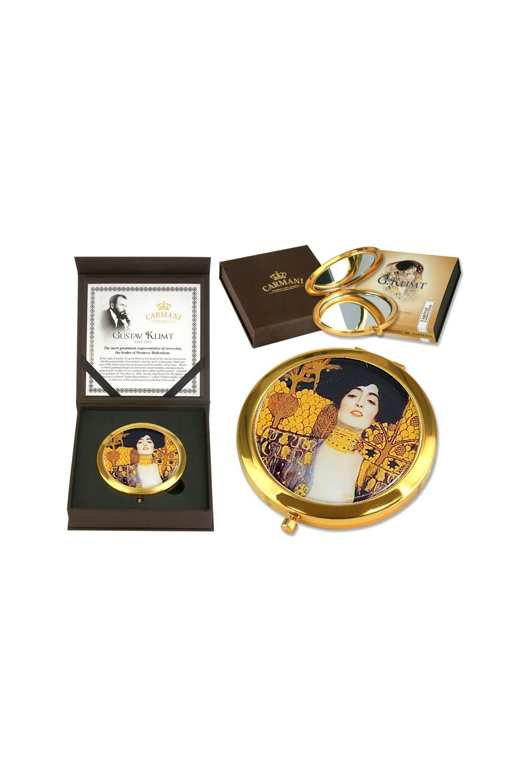 Зеркало карманное Юдифь (Г. Климт)Шкатулки и наборы по уходу<br>Бренд: Carmani. Материал: нержавеющая сталь, стекло. Страна: Польша<br>