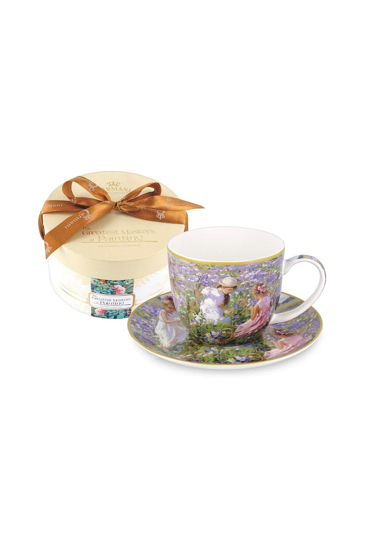 Чайная пара Девочки на лугуПосуда<br>Бренд: Carmani. 0.28л, костяной фарфор. Страна: Польша<br>