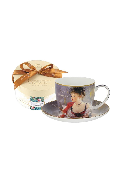 Кофейный набор За чашкой кофеПосуда<br>Бренд: Carmani. 0.28л, костяной фарфор. Страна: Польша<br>
