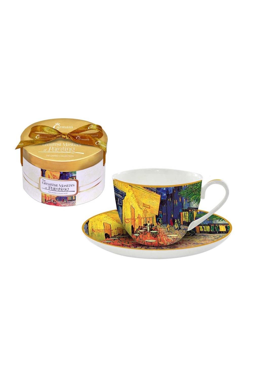 """Чайная пара """"Ночная терраса кафе (Ван Гог)"""""""