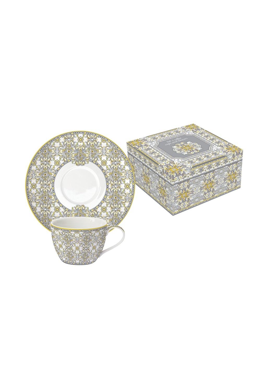 Кофейный набор МайоликаПосуда<br>Бренд: Easy Life (R2S). Кофейный набор (2 чашки 0.11л, 2 блюдца), фарфор. Страна: Китай<br>