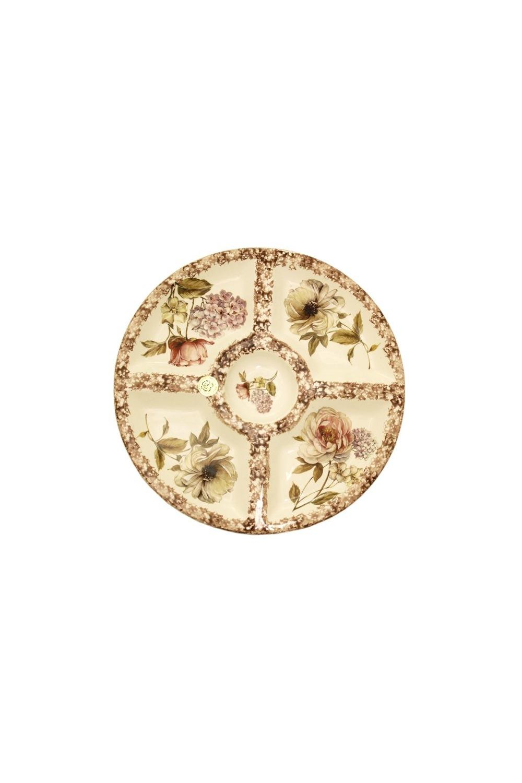 Менажница Сады ФлоренцииПосуда<br>Бренд: LCS. 36 см, керамика. Страна: Италия<br>