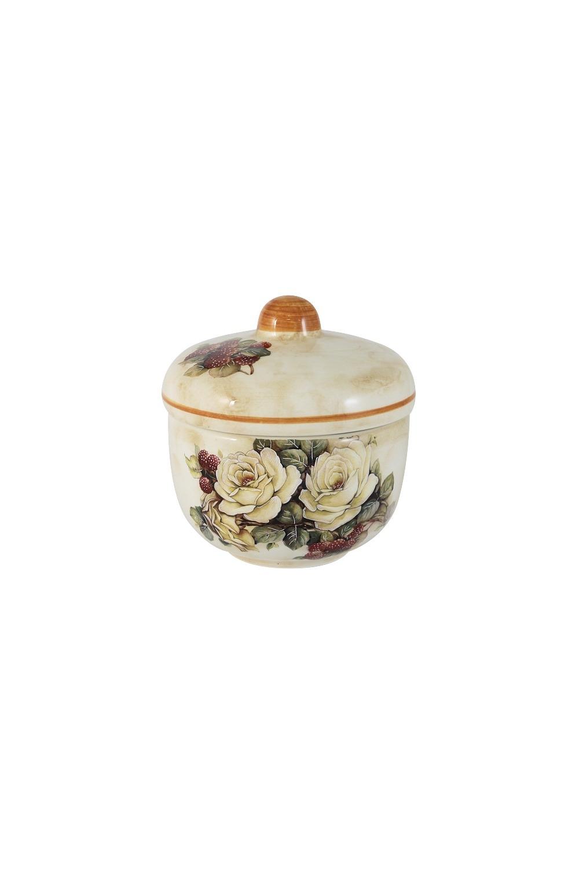 Сахарница Роза и малинаПосуда<br>Бренд: LCS. 0,25л, керамика. Страна: Италия<br>