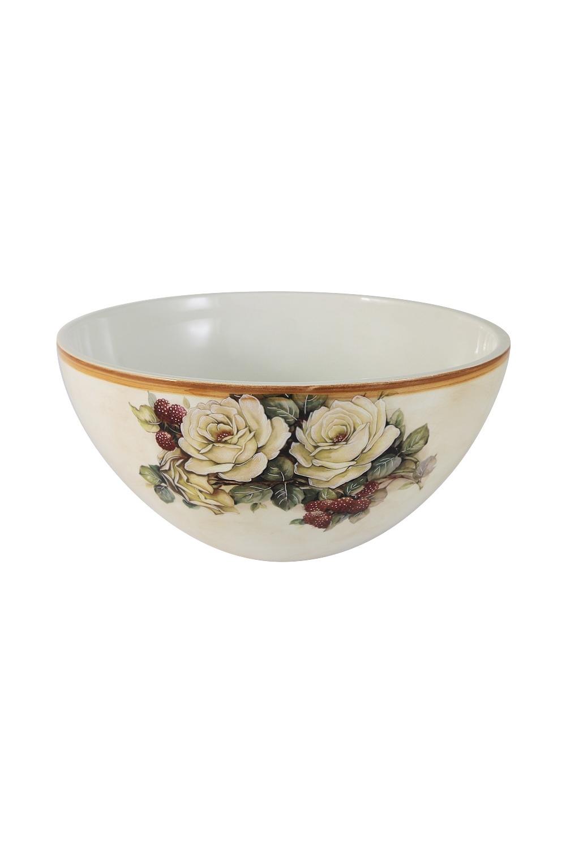Салатник Роза и малинаПосуда<br>Бренд: LCS. 20 см, керамика. Страна: Италия<br>