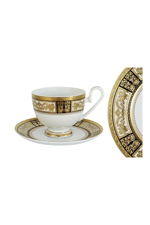 Чайная пара ЕлизаветаПосуда<br>Бренд: Midori. 0.2л, фарфор. Страна: Китай<br>